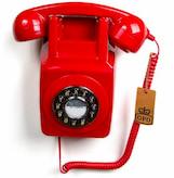 telefono antiguo rojo comprar