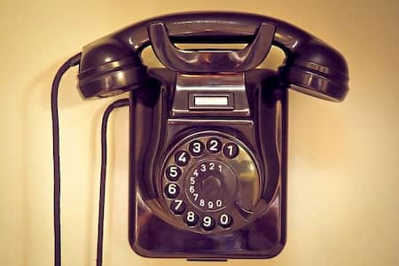 telefono antiguode pared